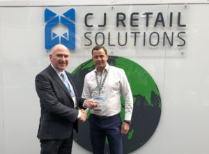 Chairman Chris Langford receives Best Stand Award at RetailEXPO 2019