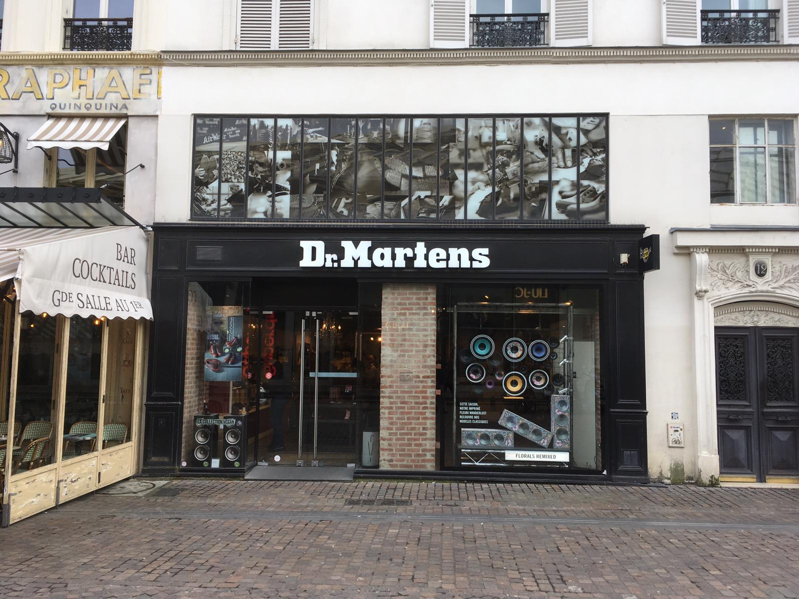Doc Martens Signage store front in France