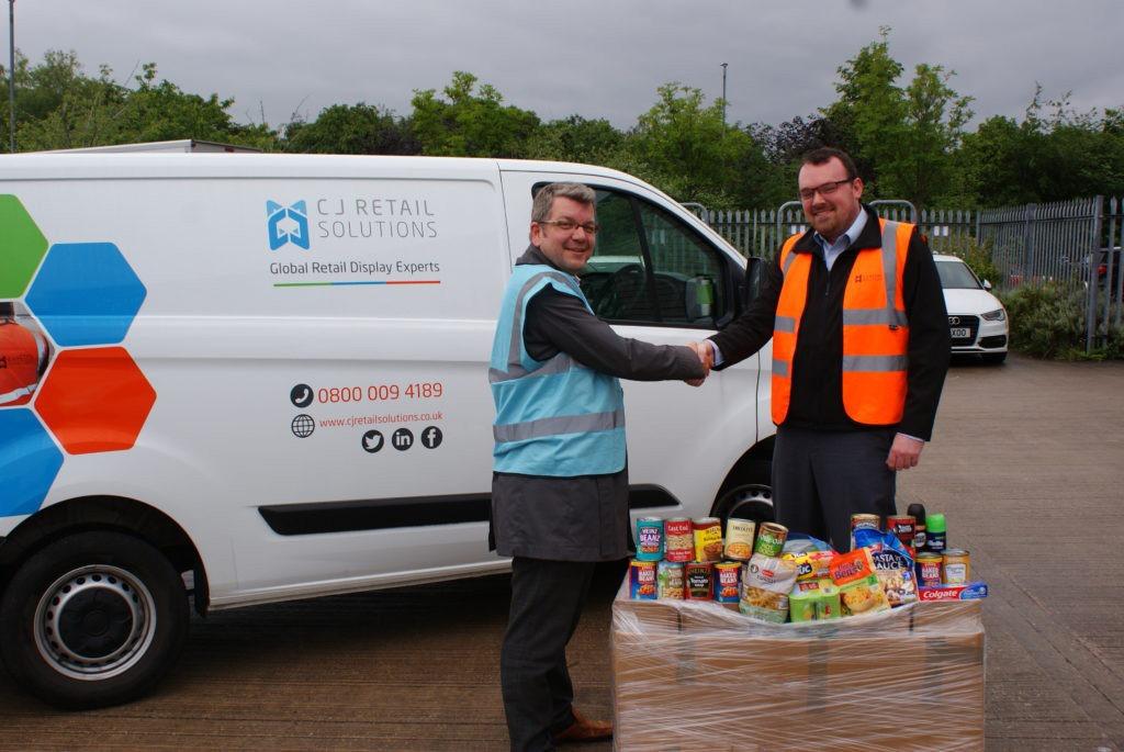 CJ Retail Solutions Foodbank donations